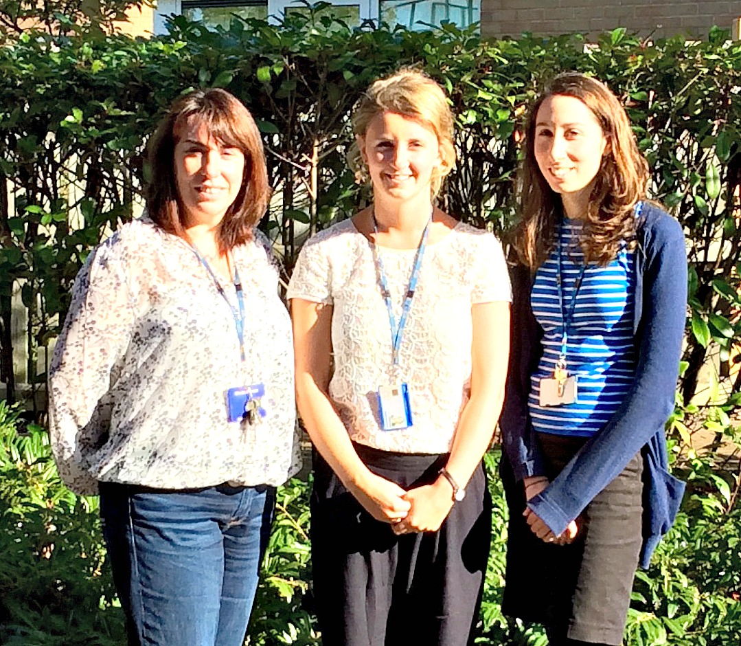 The Coborn QI team is made up of Claire McKenna (Service Manager - on the left), Rachel Northover (Assistant Psychologist - in the middle) and Laura Fialko (Lead Psychologist - on the right).