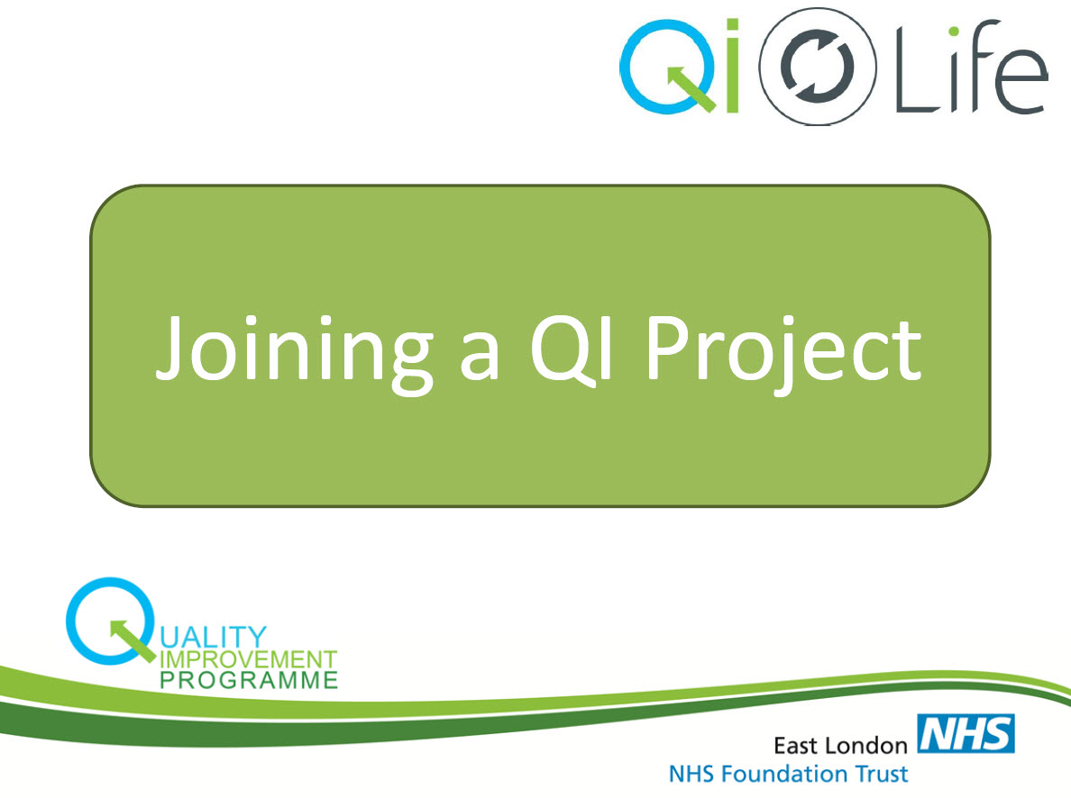Joining a QI Project